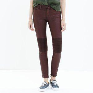 MADEWELL Skinny Skinny Zip Racetrack Jeans 26